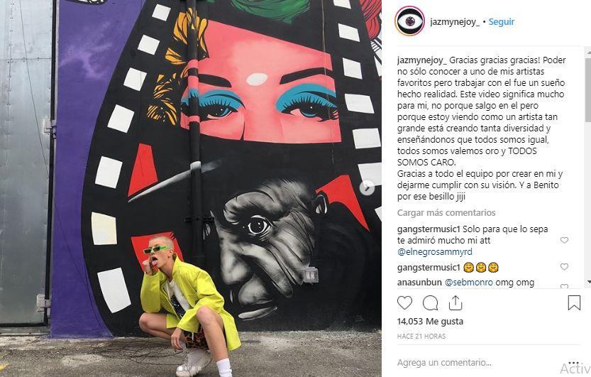 Esta fue la publicación de Jazzy en Instagram. (Foto:@jazmynejoy)