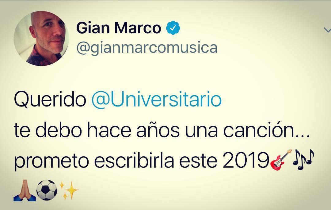 Gian Marco y la promesa a Universitario de Deportes. (Foto: Instagram)