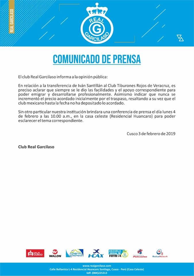 Real Garcilaso responde por el pase frustrado de Iván Santillán al Veracruz. (Foto: Difusión)