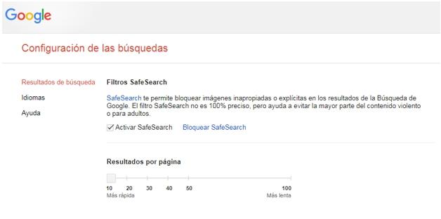 Así puedes activar el SafeSearch. (Foto: Google)