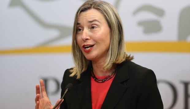 La alta representante de la UE para Asuntos Exteriores y Política de Seguridad, Federica Mogherini, ofrece declaraciones durante la primera reunión del Grupo Internacional de Contacto sobre Venezuela. (Foto: EFE)