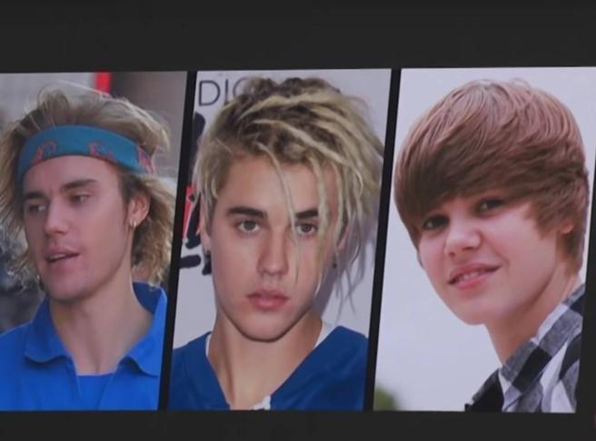 Estos son los looks de Justin Bieber que debía criticar. (Foto: Captura de YouTube)