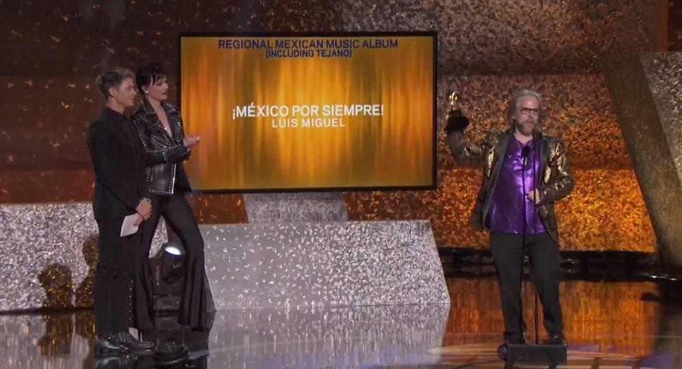 Luis Miguel ganó el premio al Mejor álbum regional mexicano. (Foto: Captura de pantalla)
