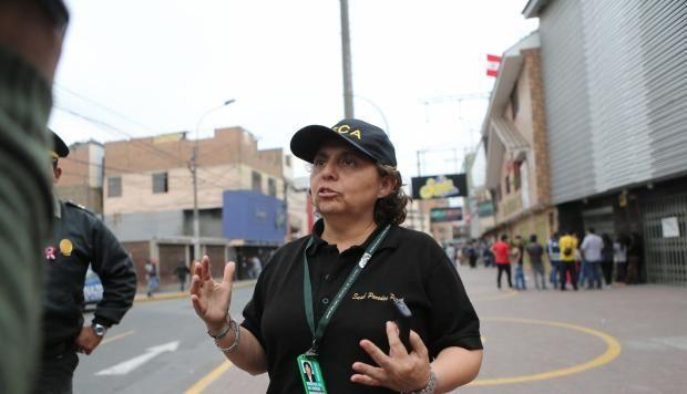 Susel Paredes es la gerenta de Fiscalización de La Victoria y pieza clave en la operación contra el comercio ambulatorio en Gamarra. (Foto: El Comercio)