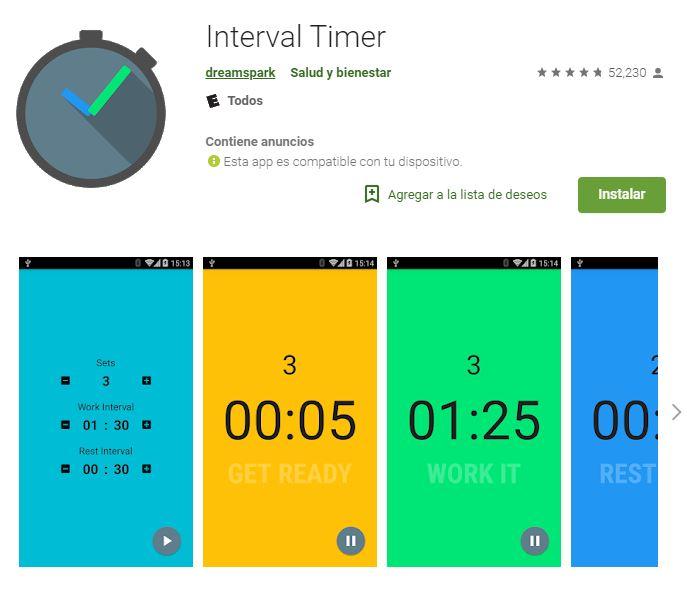 Esta app te avisará cuándo tengas que tomar un descanso. (Foto: Google Play)
