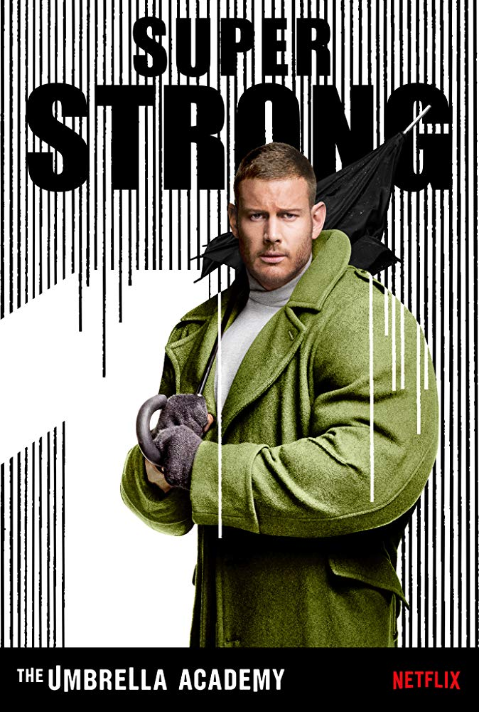 Tom Hopper interpreta a Luther Hargreeves / Spaceboy en The Umbrella Academy (Foto: Netflix)