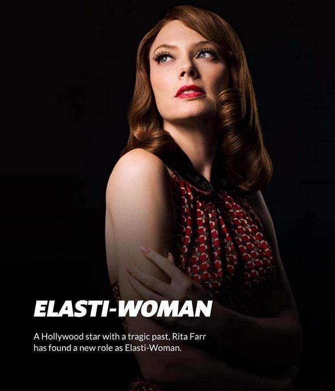 """""""Rita Farr, una estrella de Hollywood con un pasado trágico, ha encontrado un nuevo papel como Elasti-Woman"""" (Foto: DC Universe)"""