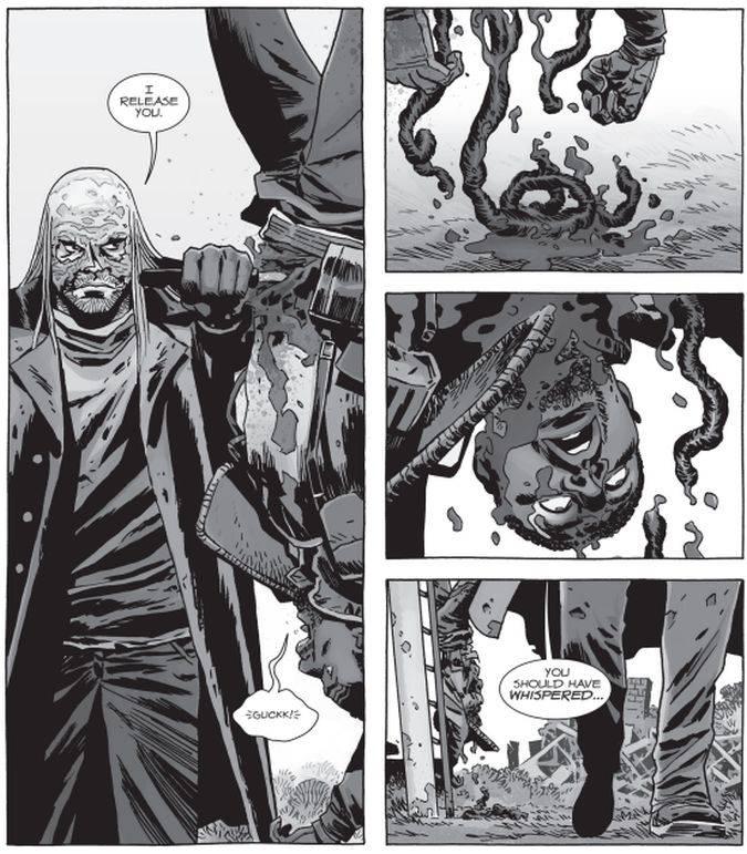 En el resto del #158 de The Walking Dead, varios miembros del ejército de Rick murieron en el enfrentamiento (Foto: Image Comics)