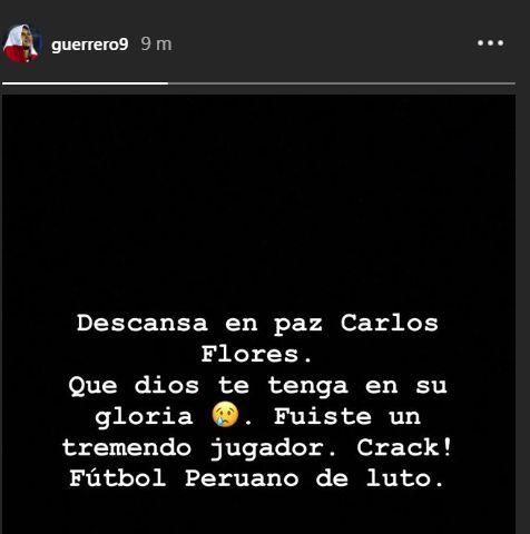 El mensaje de Paolo Guerrero en Instagram.
