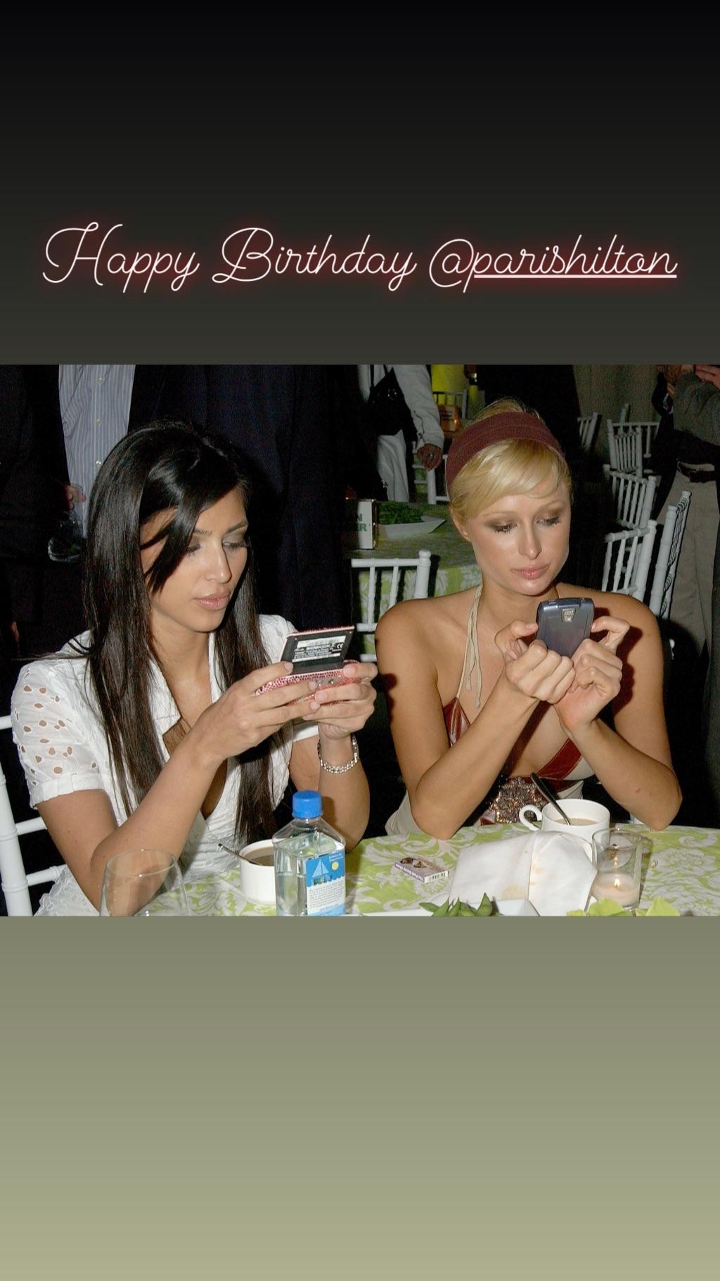 Kim Kardashian saluda a Paris Hilton por su cumpleaños. (Foto: Instagram)