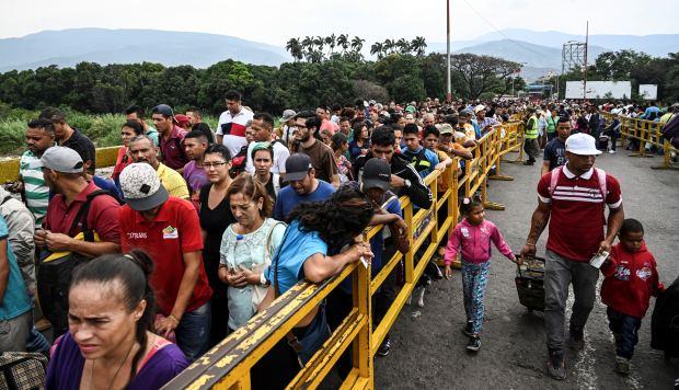 Tres millones de personas se fueron de Venezuela desde 2015, reveló la ONU. (Foto: AFP)