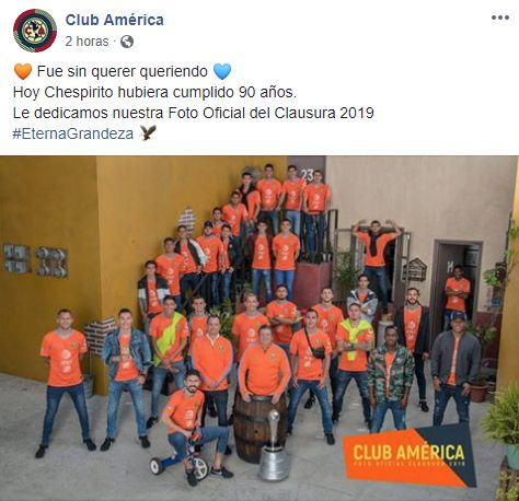 La foto ofocial del América para el Clausura 2019.