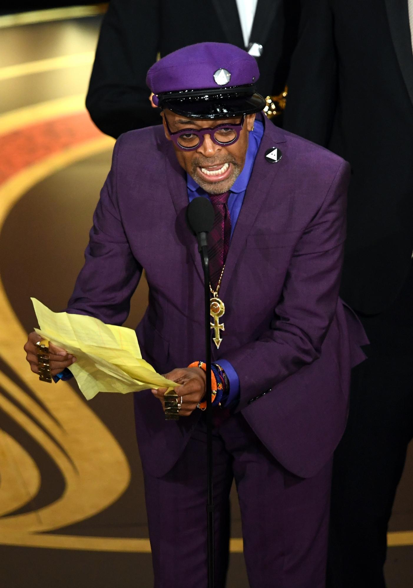 El primer Oscar en la carrera de Spike Lee. (Foto: AFP)