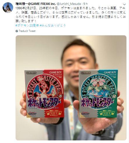Este es el saludo de Junichi Masuda a Pokémon. (Foto: Captura de Twitter)