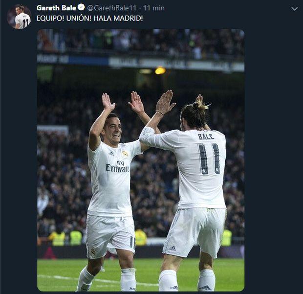 Bale y Vázquez celebran juntos como no lo hicieron en la visita al Levante.