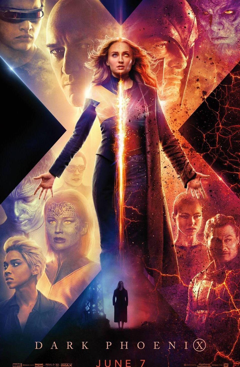 El nuevo afiche de los X-Men presenta a Jean Grey dividida en su lado bueno y Dark Phoenix. (Foto: 20th Century Fox)