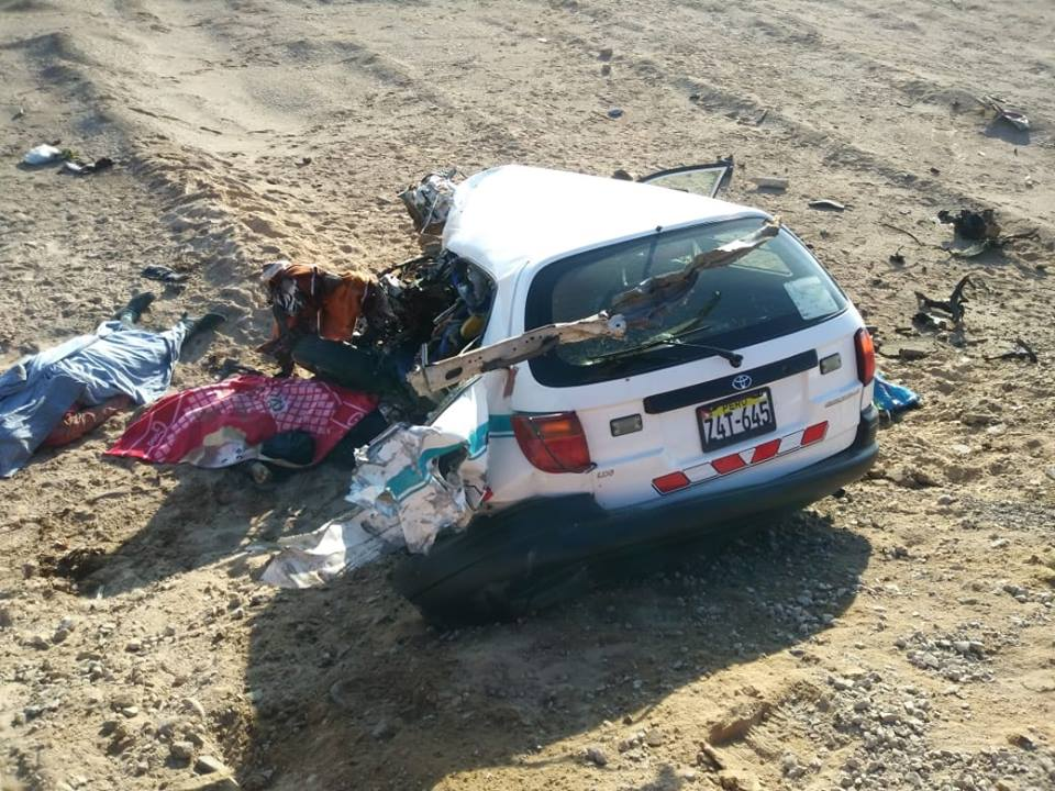 Accidente ocurrió a la altura del kilómetro 1,197 de la Panamericana Sur (Foto: Informativo Ilo)