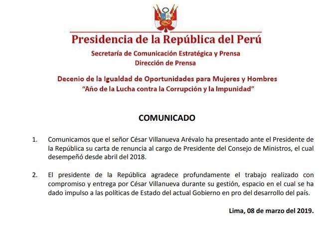 (Documento: Presidencia de la República)