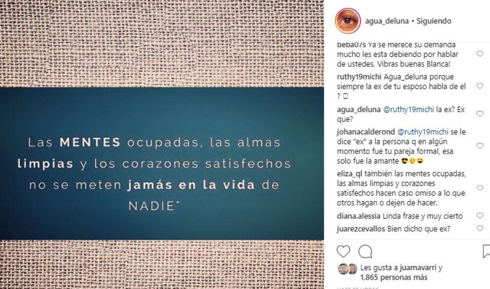 Esta fue la publicación de Blanca Rodríguez. (Foto: Instagram)
