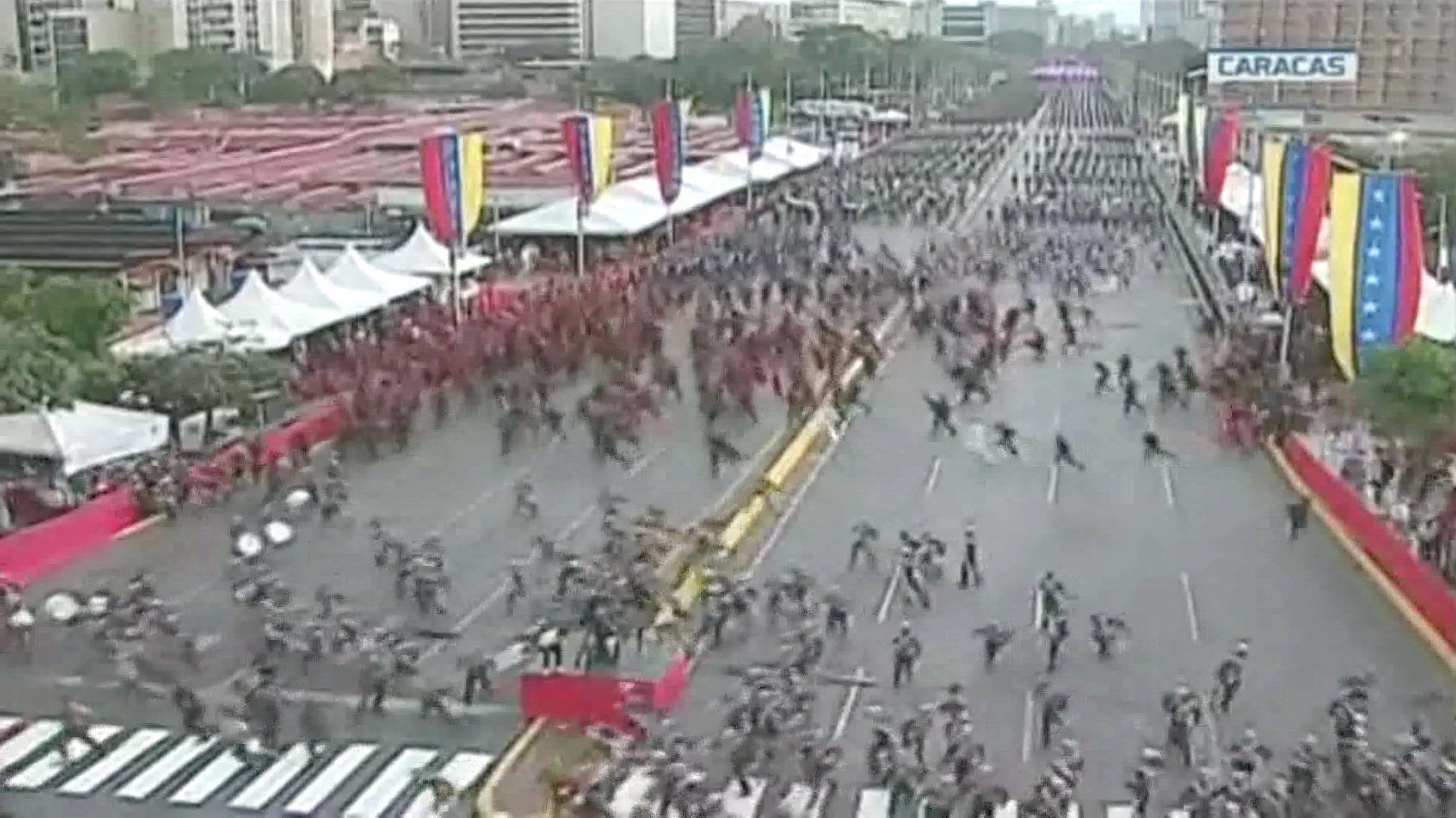 Ataque con drones en Caracas. (Foto: EFE)