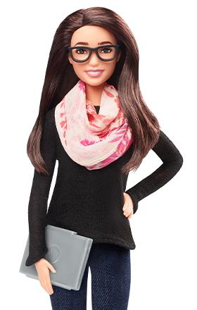 La figura de Barbie inspirada en Mariana Costa. El modelo es único en el mundo y no está a la venta. (Foto: Barbie)