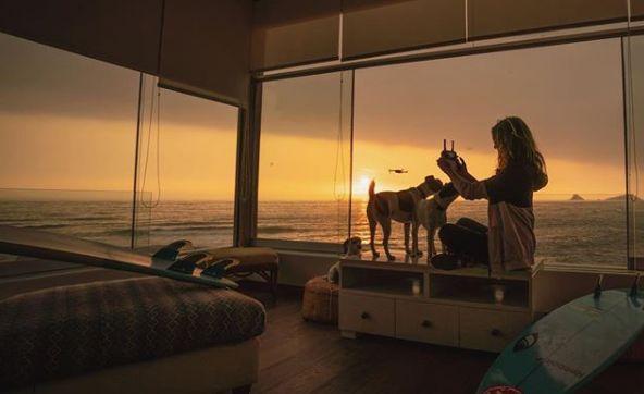Sofía Mulanovich encuentra la paz en el atardecer, en el mar o en momentos de relajo con sus mascotas Kiwi, Cuy y Menta. (Foto: Instagram oficial)