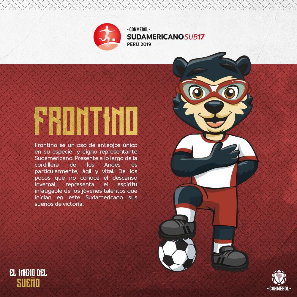 Frontino, la mascota oficial del Sudamericano Sub 17.
