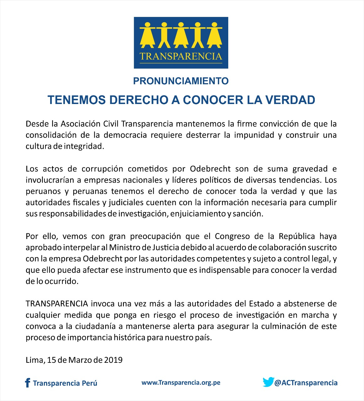 (Documento: Asociación Civil Transparencia)