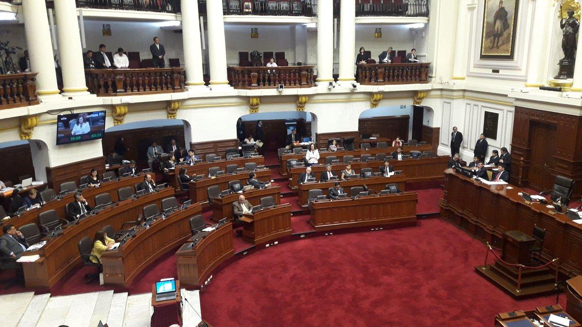 Ausencia de congresistas durante debate en el pleno. (Foto: GEC)