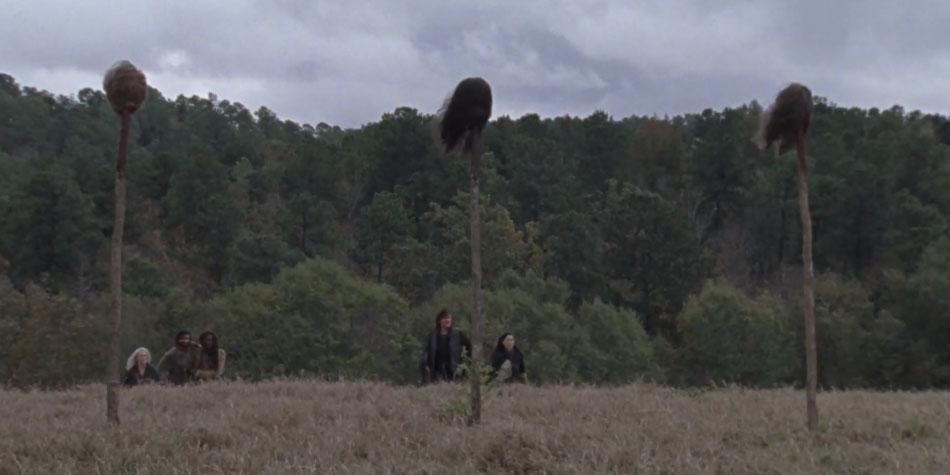 Daryl,Carol,Michonne y Siddiq fueron los que encontraron esa terrible escena (Foto: AMC)