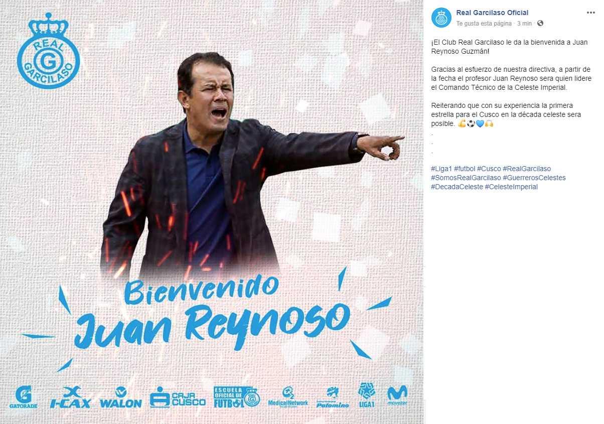 Juan Reynoso volverá a Perú para dirigir a Real Garcilaso. (Foto: Real Garcilaso)