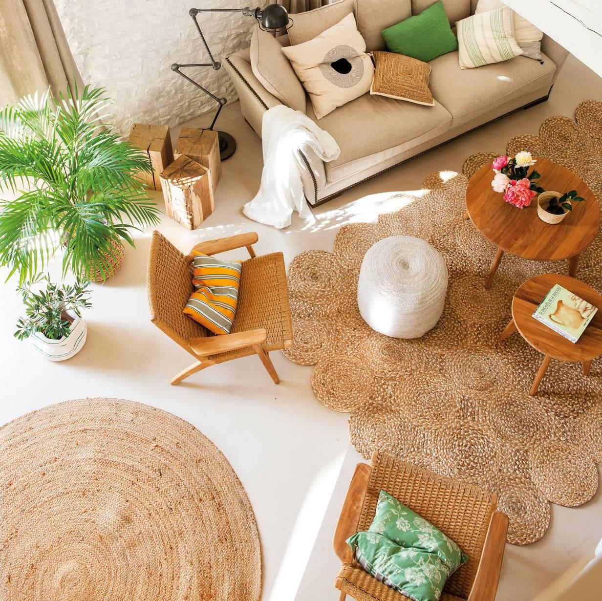 Tranquilidad, naturaleza y frescura obtendrás con este tipo de alfombras. (Foto: El Mueble)