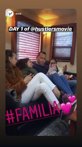 Esta es la fotografía que compartió Álex Rodriguez en el set de filmación de la nueva película de Jennifer Lopez. (Foto: Instagram)