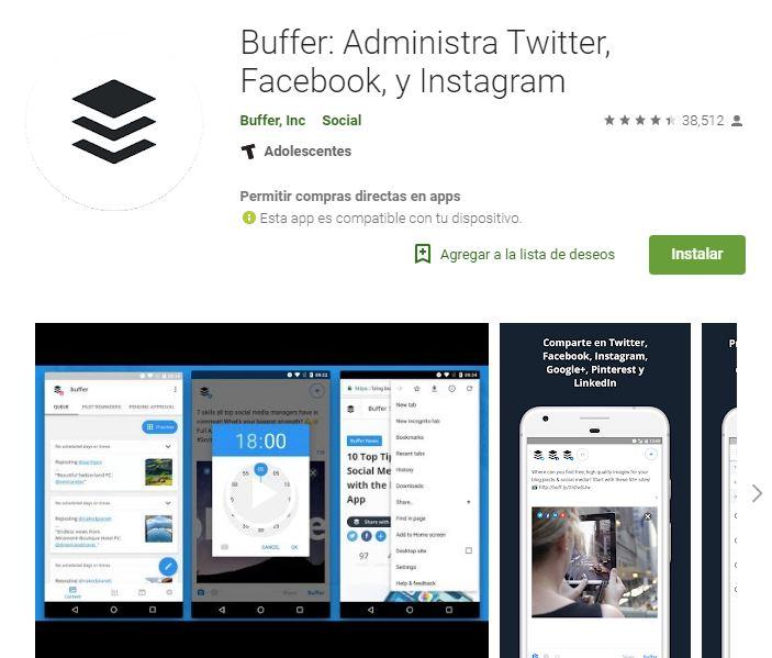 Ideal para los comunity manager. (Foto: Captura Google Play)