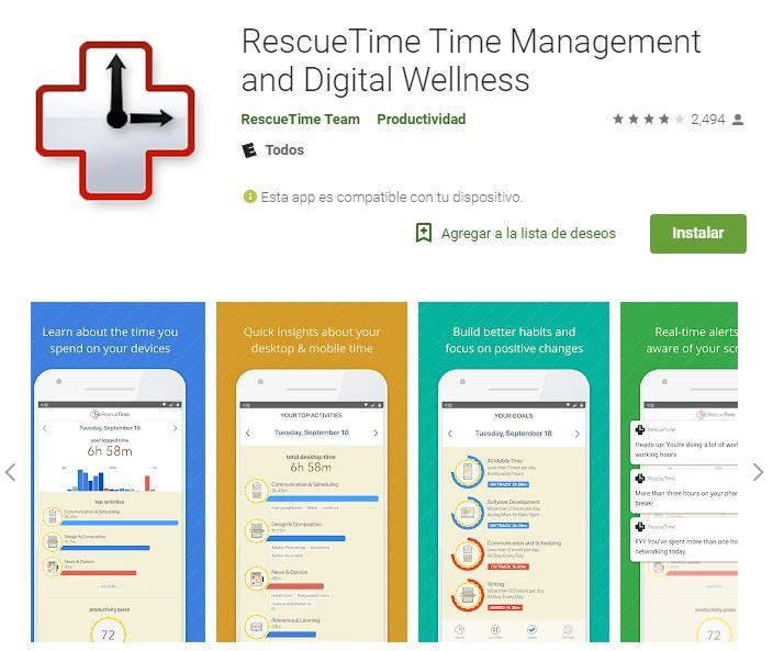 Es el horario más moderno que puedas tener en la palma de tu mano. (Foto: Captura Google Play)