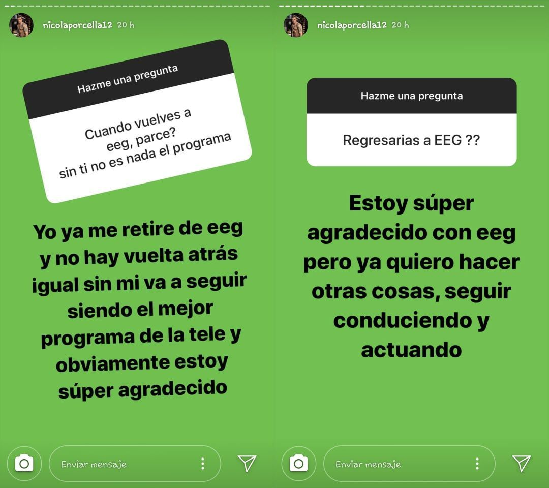"""Nicola Porcella descarta volver a """"Esto es guerra"""". (Foto: @nicolaporcella12)"""