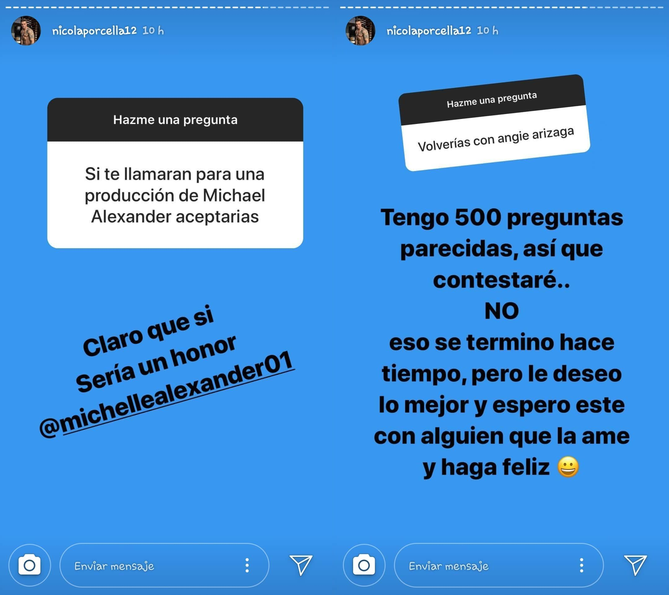 Nicola Porcela aseguró que no retomará su relación con Angie Arizaga e indicó que le desea lo mejor. (Foto: @nicolaporcella12)