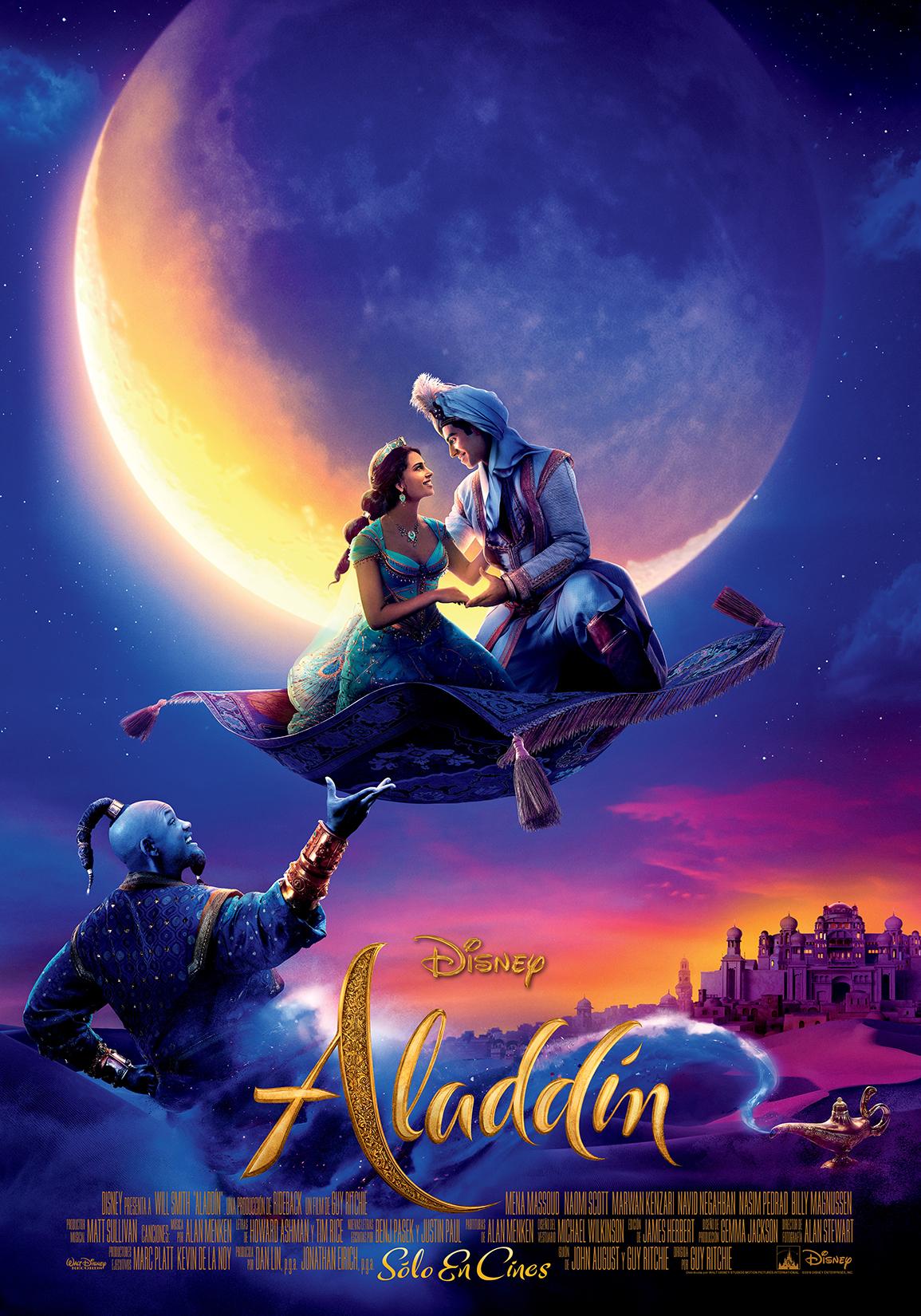 Nuevo afiche de Aladdin. (Foto: difusión)