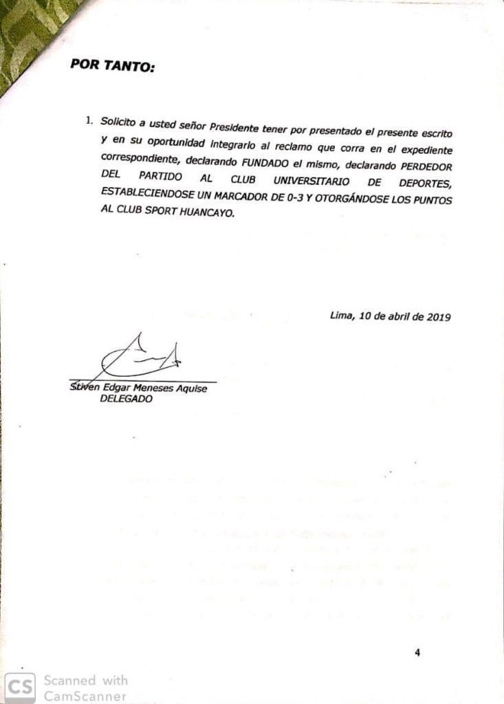 Universitario de Deportes suspendió el partido ante Sport Huancayo por la fecha 8 a pedido de la Policía Nacional (Foto: Club Universitario de Deportes)