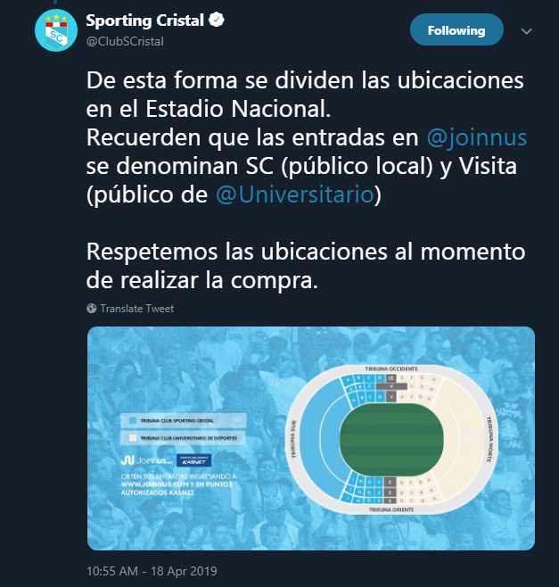 Twitter Sporting Cristal