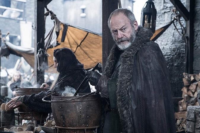 Ser Davos preparándose para la batalla contra los White Walkers (Foto: HBO)
