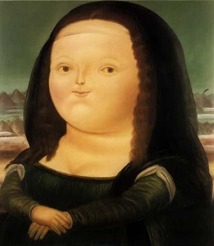 La tierna versión de la Mona Lisa hecha por Botero. (Foto: Facebook Fernando Botero)