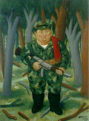 'Tirofijo' inmortalizado por Botero. (Foto: Facebook Fernando Botero)