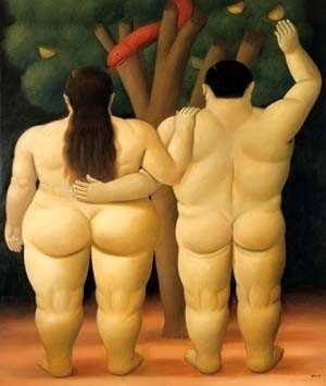 Adán y Eva también fueron pintados por el artista colombiano. (Foto: Facebook Fernando Botero)