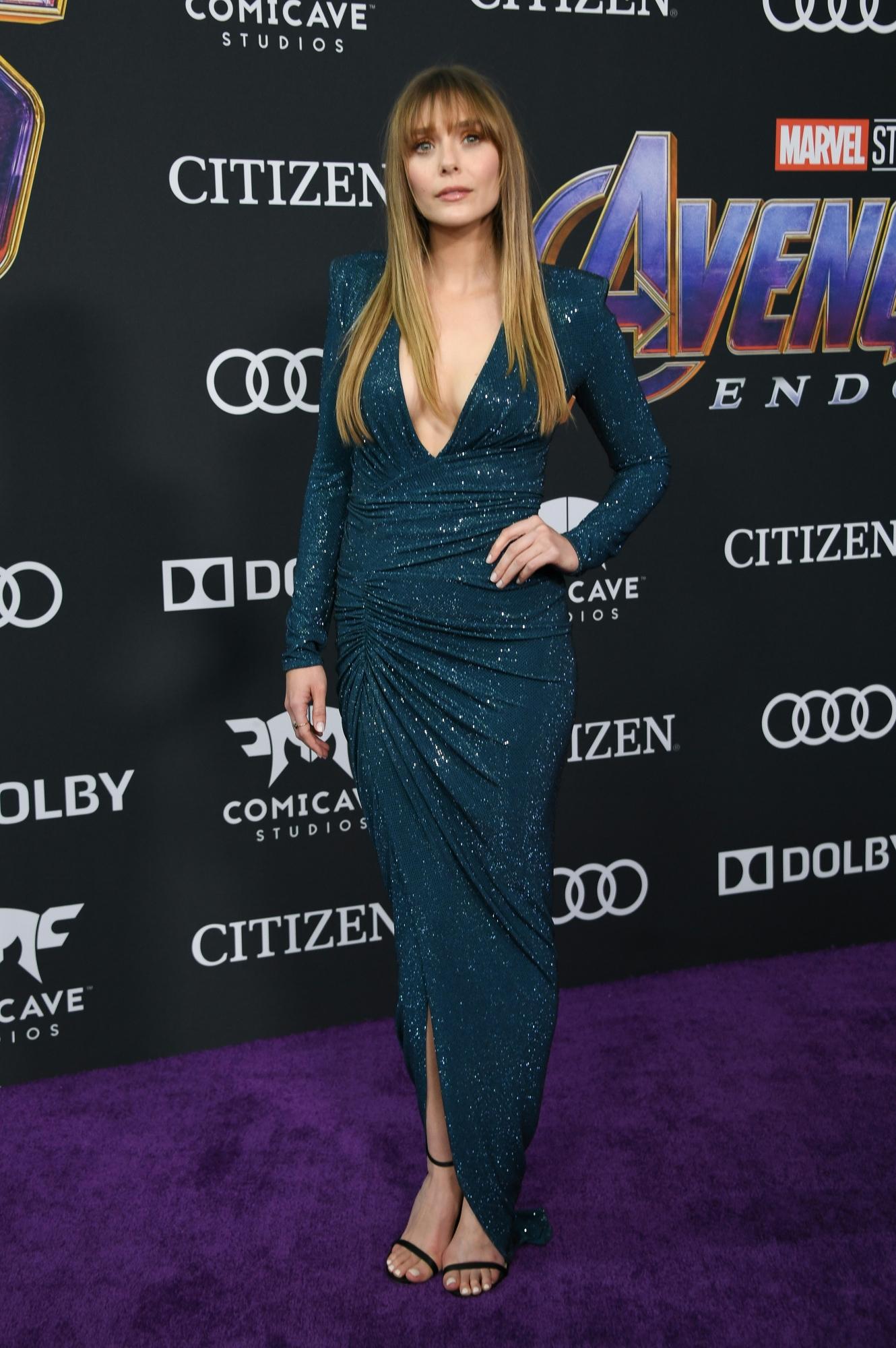 Elizabeth Olsen deslumbró con su presencia en el Avant Premiere Mundial. (Foto: AFP)