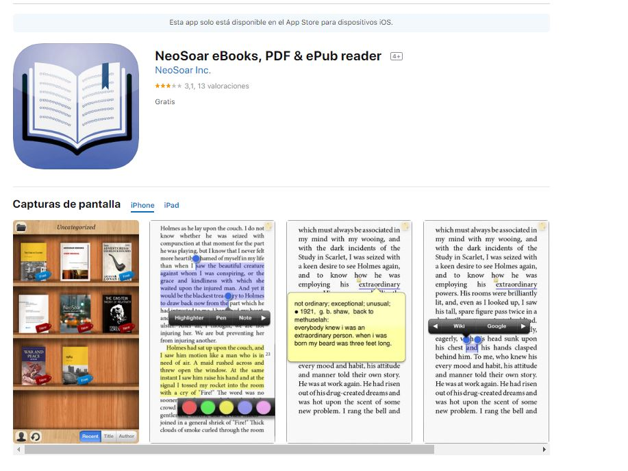 Esta App es exclusiva para iOS. (Foto: Captura de imagen)