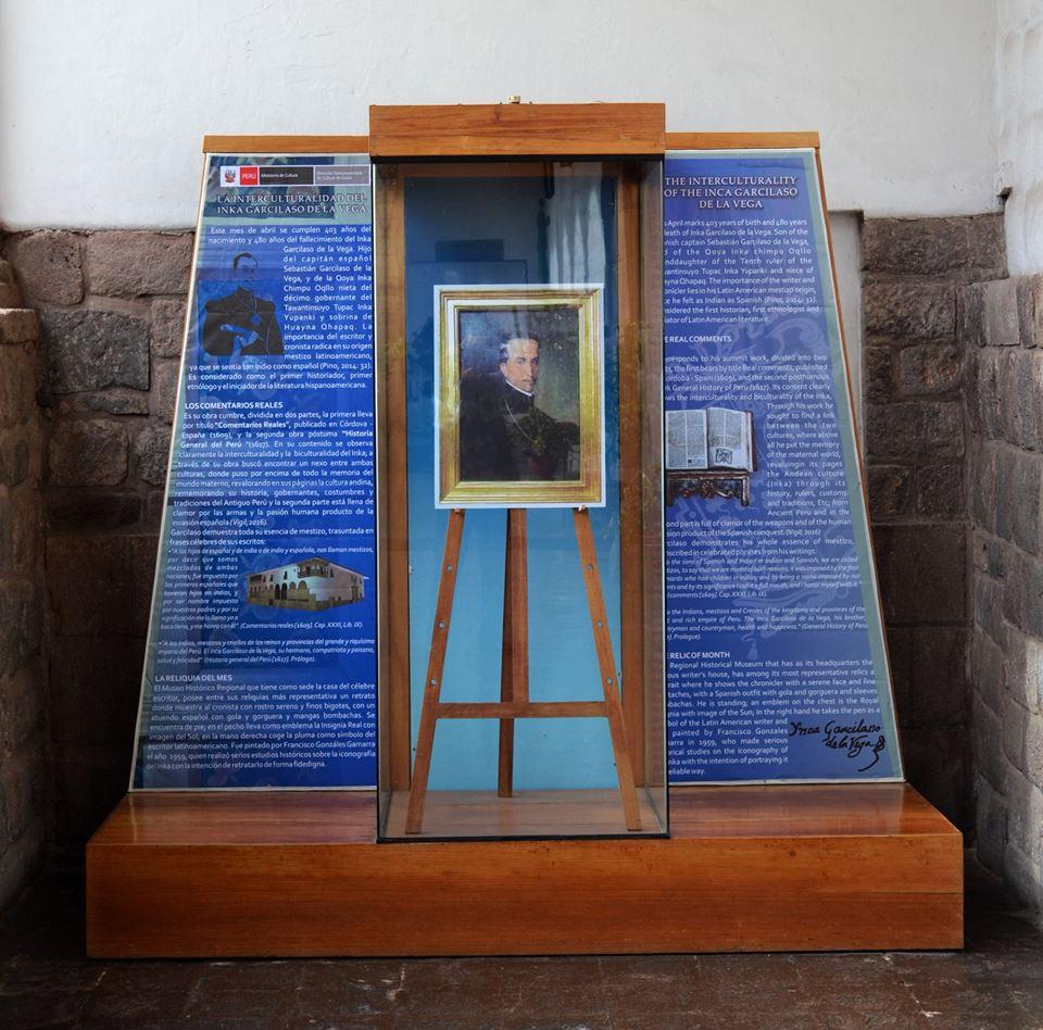 Al llegar, el escritor te dará la bienvenida. (Foto: Facebook Museo Histórico Regional Casa del Inca Garcilaso de la Vega)