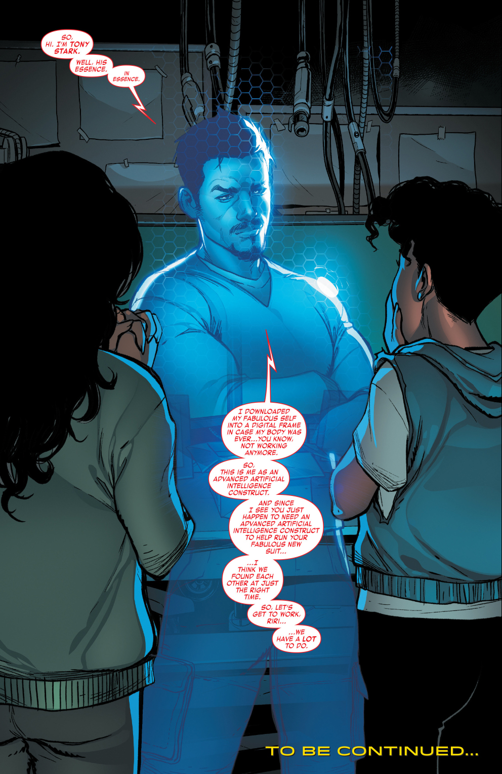 Tony Stark como Inteligencia Artificial (Foto: Marvel Comics)