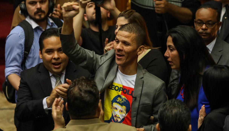Gilber Caro estuvo preso entre enero de 2017 y el 2 de junio de 2018, acusado de traición a la patria y sustracción de armas de la Fuerza Armada. (Foto: EFE)