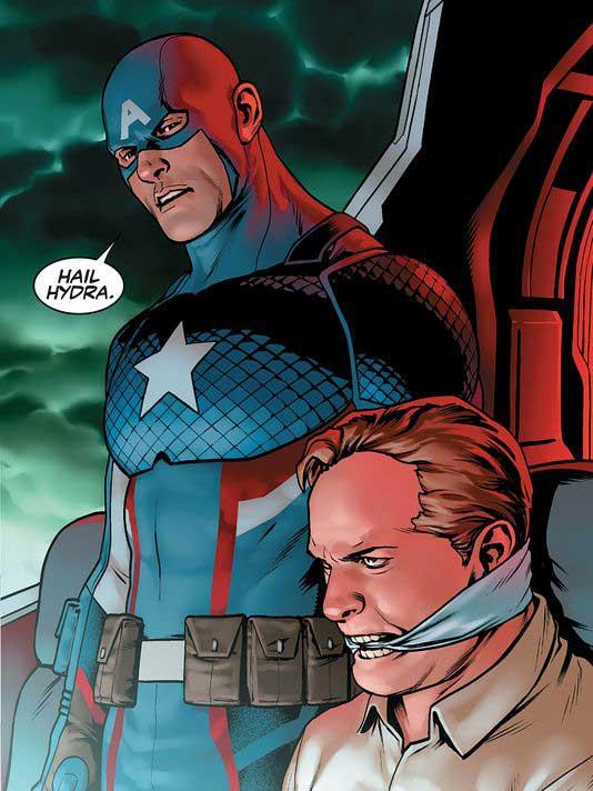 El Capitán América diciendo